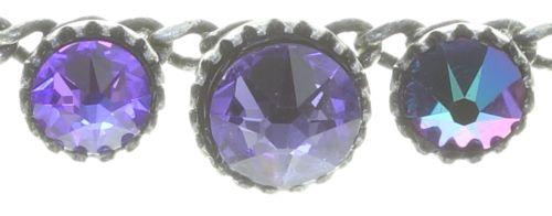 Konplott Water Cascade steinbesetzte Halskette in lila 5450543772981