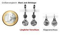 Vorschau: Konplott Black Jack Ohrhänger mit längl. Verschluss in Sapphire 5450527470728