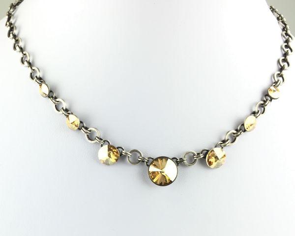 Rivoli crystal golden shadow Halskette partiell steinbesetzt