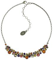 Vorschau: Konplott Water Cascade steinbesetzte Halskette in braun/orange 5450543754390
