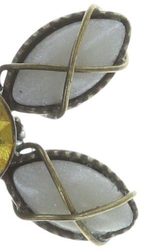 Konplott Psychodahlia Ohrstecker in perlmutt und gelb Messing 5450543734118