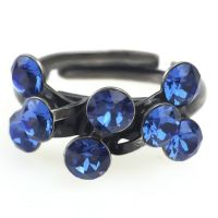 Konplott Magic Fireball 8 Stein Ring in sapphire, blau 5450527611732