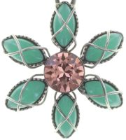 Vorschau: Konplott Psychodahlia Halskette mit Anhänger in multi Silberfarben 5450543733920