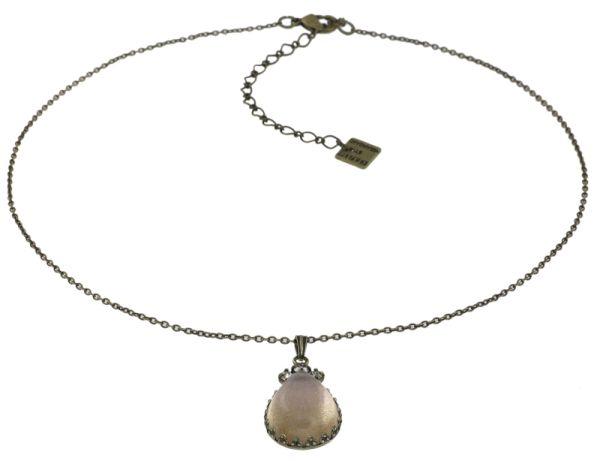 Konplott Mary Queen of Scots Halskette Champagne weiß/beige 5450543887661