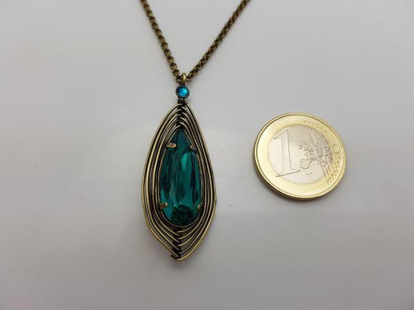 Konplott Amazonia lange Halskette mit Anhänger in blau/grün, Größe M 5450543750897