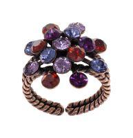 Konplott Magic Fireball Ring Ruby Violet in Classic Size 5450543936611