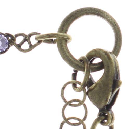 Konplott Festival Anklet Fußkette lila Messing 5450543747439