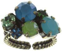 Vorschau: Konplott Ballroom Classic Glam Ring in blau/grün 5450543726724