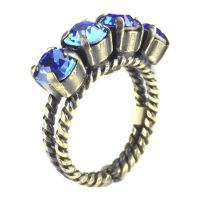 Konplott Colour Snake Ring in Sapphire, blau 5450527129091