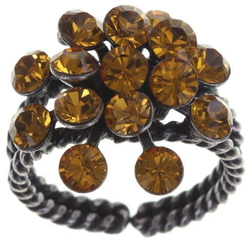 Konplott Magic Fireball 16 Stein Ring in topaz, gelb/braun 5450527640558