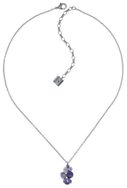 Konplott Petit Glamour Halskette mit Anhänger in lila 5450543760131