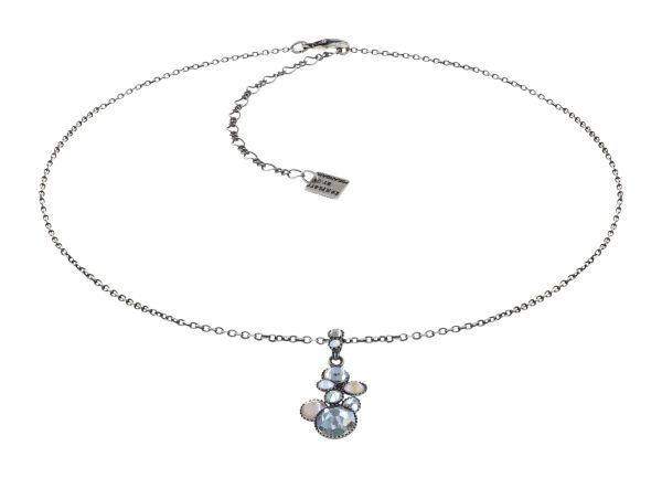 Konplott Water Cascade Halskette in Vanilla Sorbet weiß/grau 5450543906942