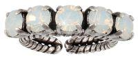 Vorschau: Konplott Colour Snake Ring weißer Opal 5450543853925