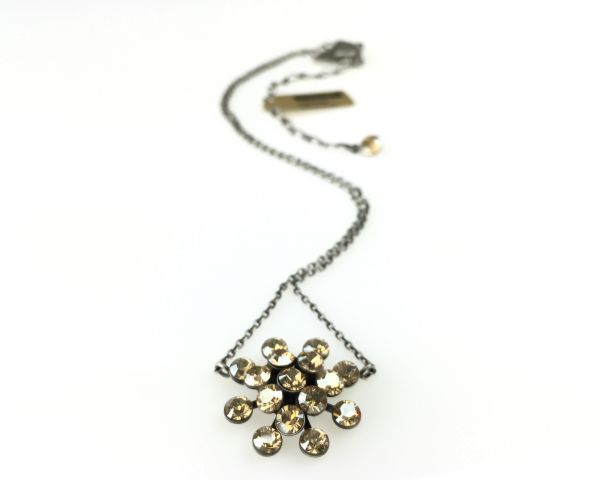 Konplott Magic Fireball Halskette mit Anhänger in crystal golden shadow 5450527640046