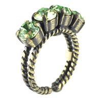 Konplott Colour Snake Ring in Peridot 5450527131148