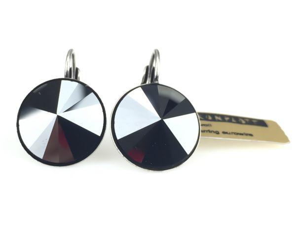 Konplott Rivoli schwarze Ohrhänger mit Klappverschluss 5450527612869