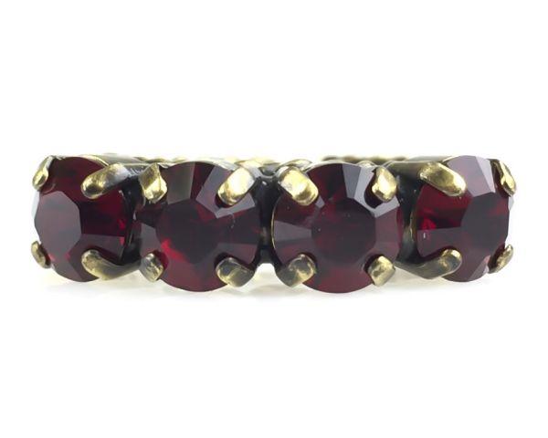 Konplott Colour Snake Ring in Siam, dunkelrot 5450527256933