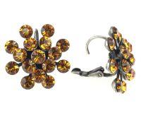 Vorschau: Konplott Magic Fireball Ohrhänger mit Klappverschluss in topaz, gelb/braun 5450527640541