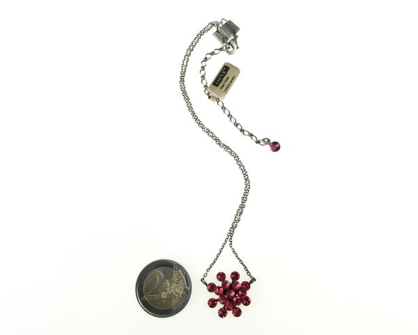 Konplott Magic Fireball Halskette mit Anhänger in indian pink, rot/pink 5450527767262