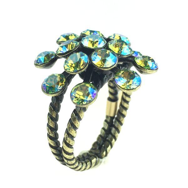 Konplott Magic Fireball gelb/grüner Ring 5450543637099