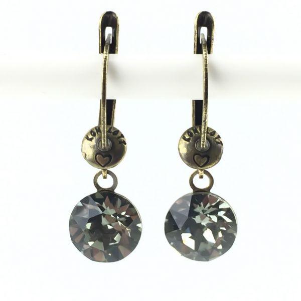 Black Jack Ohrhänger mit längl. Verschluss in black diamond, kristall schwarz