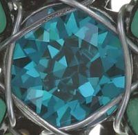 Vorschau: Konplott Psychodahlia Ohrstecker in blau/grün Silberfarben 5450543730172