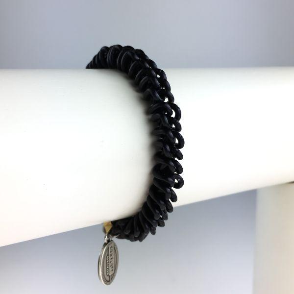Konplott Bead Snakes elastisches Armband in schwarz matt 5450543621739