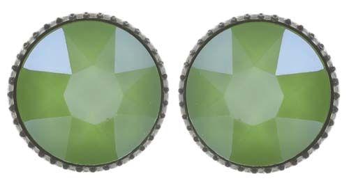Konplott Black Jack Ohrstecker klassisch groß in grün crystal lime 5450543723877