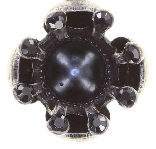 Konplott Petit Fleur de Bloom Ohrstecker in schwarz carbon bloom 5450543799100