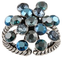 Konplott Magic Fireball Ring in blau 5450543765761