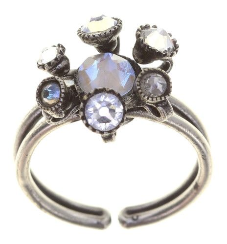 Konplott Alien Caviar Ring Crystal Clear in weiß 5450543895796