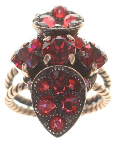 Konplott Tears of Joy Ring in coralline scarlet rot Größe S 5450543765518