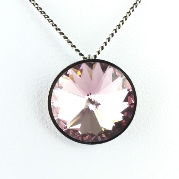 Rivoli light amethyst Halskette mit Anhänger rosa/lila