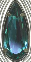 Vorschau: Konplott Amazonia Ohrhänger in blau/grün, Größe M 5450543750989