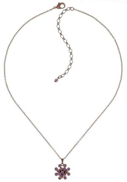 Konplott Magic Fireball Halskette mit Anhänger Deep Rose in rosa mini 5450543892894