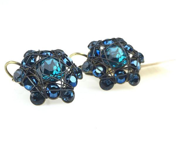 Konplott Bended Lights Ohrhänger mit Klappverschluss in Blau 5450527759380