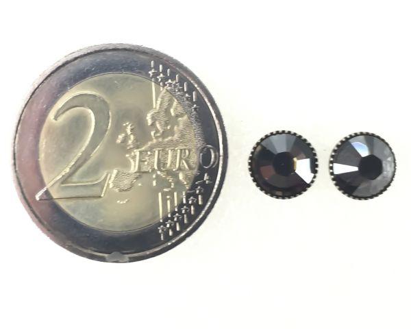 Konplott Black Jack Ohrstecker klassisch rund groß in crystal satin 5450527778329
