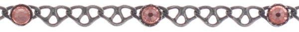 Konplott Festival Anklet Fußkette hell pink Silberfarben 5450543747385