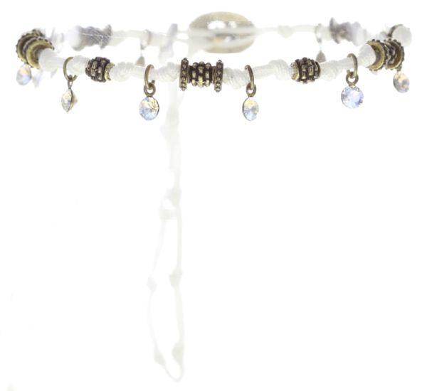 Konplott Festival Anklet Fußkette in weiß Messing 5450543747019
