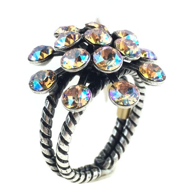 Konplott Magic Fireball beige silk shimmer Ring 5450543631479