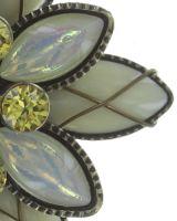 Vorschau: Konplott Psychodahlia Ring in gelb Messing 5450543734774