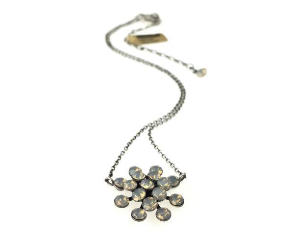 Konplott Magic Fireball Halskette mit Anhänger in light grey opal 5450527767354