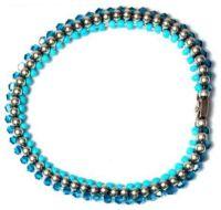 Vorschau: Konplott Bead Snakes elastisches Armband blau 5450543662350