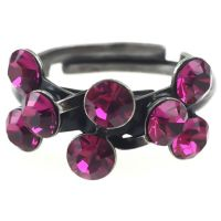 Konplott Magic Fireball 8 Stein Ring in fuchsia, pink 5450527611893