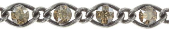Konplott Magic Fireball Armband in Beige - Kristall goldener Schatten Classic Size 5450543302782