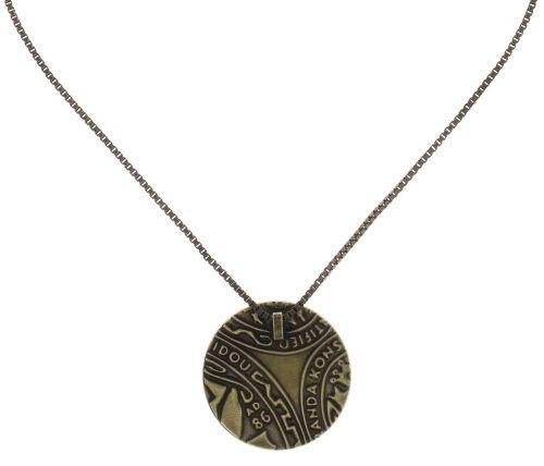 Konplott Studio 54 Halskette mit Anhänger in grün Messing 5450543748146