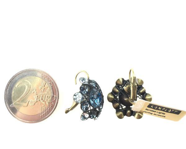 Konplott Bended Lights Ohrhänger mit Klappverschluss in Hellblau 5450527280280