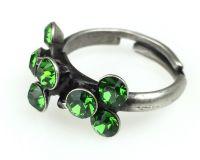 Vorschau: Konplott Magic Fireball 8 Stein Ring in Farn grün 5450527778312