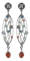 Konplott Cages Ohrhänger in pastel multi Silberfarben 5450543741161