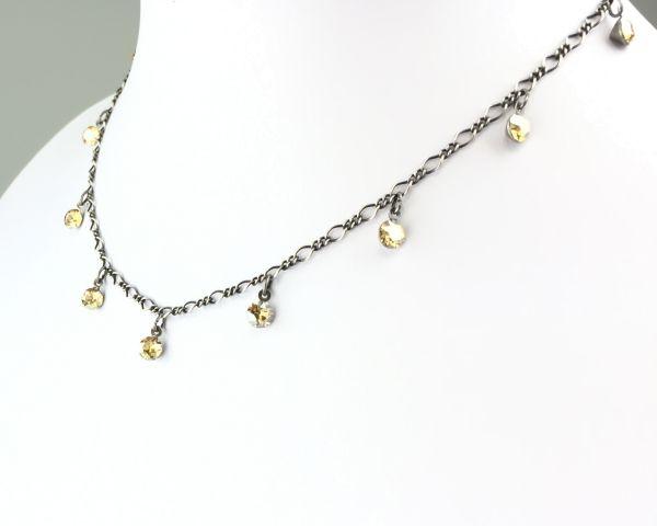 Konplott Tutui crystal golden shadow Halskette steinbesetzt 5450527641111